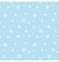 Seamless pattern with snowflakes Winter background vector image