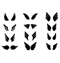 set eagle wing icons design elements for logo vector image