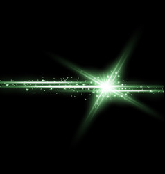 shining star with a stardust green color vector image
