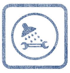 Shower plumbing fabric textured icon vector