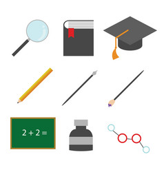 simple education related icons vector image
