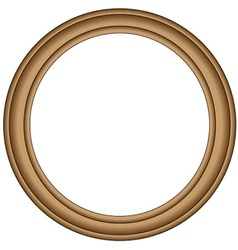 Simple wood frame vector