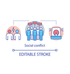 Social conflicts and disputes concept icon vector