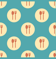 Spoon and fork seamless pattern vector