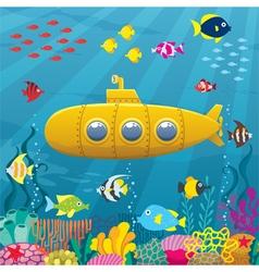 Submarine Background vector image