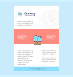 template layout for cloud downloading comany vector image