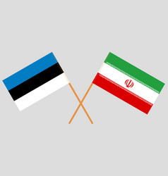 The iranian and estonian flags vector