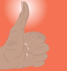 Thumb up light vector