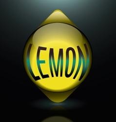 Vertical glass lemon text abstract logo vector