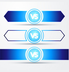vs logo versus board rivals with space for text vector image