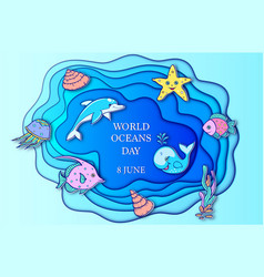 World ocean day vector