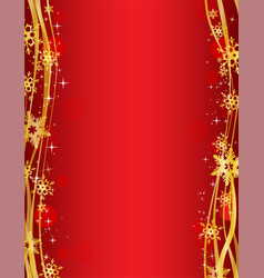 christmas party background with gold decorative vector image