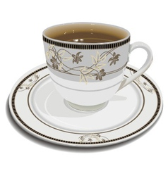 cup with tea vector image vector image