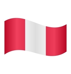 Flag of Peru waving on white background vector image