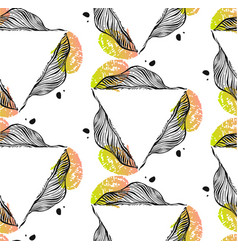 hand drawn abstract seamless pattern with vector image vector image