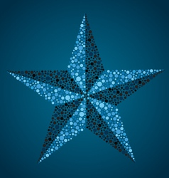 nautical star vector image vector image