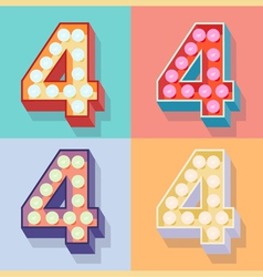 Number 4 vector image