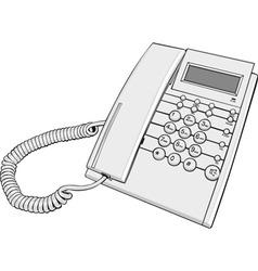 phone cartoon vector image vector image