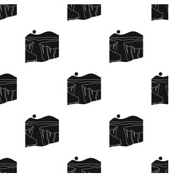 grand canyon icon in black style isolated on white vector image vector image