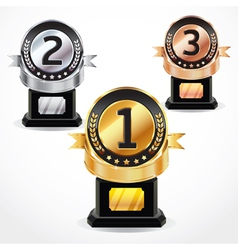 Set of Medal Numbers vector image