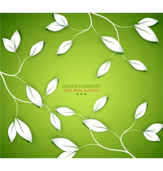 background with twigs and leaves vector image vector image
