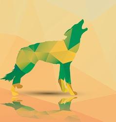 Geometric polygonal wolf pattern design vector image vector image