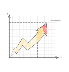 line graph representing data vector image vector image
