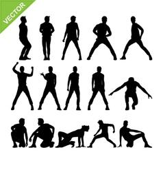 Men dancer silhouettes vector image