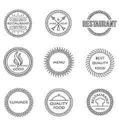 Set of outline emblems vector image