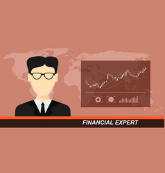 stock market and financial expert vector image vector image