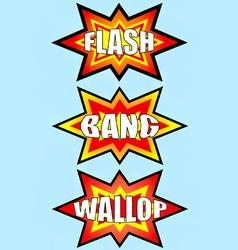 flash bang wallop signs vector image
