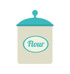 icon flour bowl isolated vector image