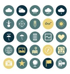 icons plain round ui program vector image