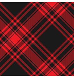 Menzies tartan black red kilt diagonal fabric vector