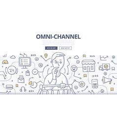 Omni-Channel Doodle Concept vector image