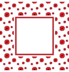 Poppies Frame vector image vector image