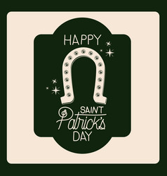 poster happy saint patricks day of emblem with vector image vector image