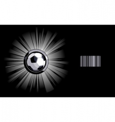 shining soccer ball vector image