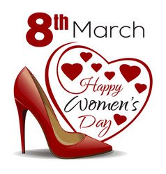 8th march happy womens day design vector