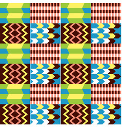 African kente cloth style seamless textile vector