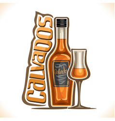 Alcohol drink calvados vector