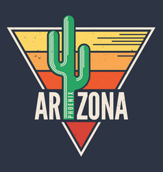 Arizona t-shirt design print typography label vector