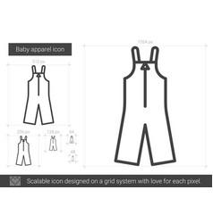 Baby apparel line icon vector