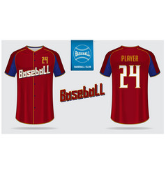 baseball jersey or raglan t-shirt sport template vector image