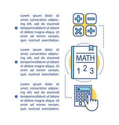 Basic maths calculations article page template vector
