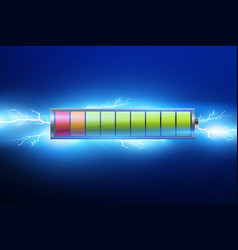 Batteries with electric chargepulselightning and vector