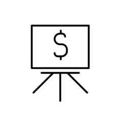 blackboard with dollar icon vector image