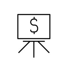 blackboard with dollar icon vector image