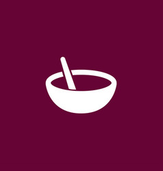 bowl icon simple cooking vector image