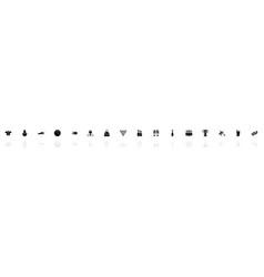 bowling - flat icons vector image